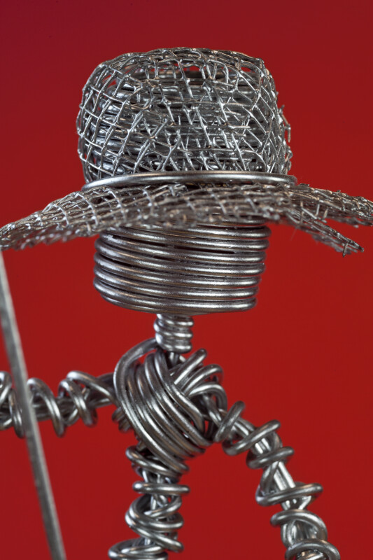 Antigua of Handcrafted Fisherman Made from Wire (Close Up)