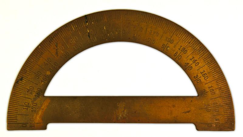 Antique Brass Protractor