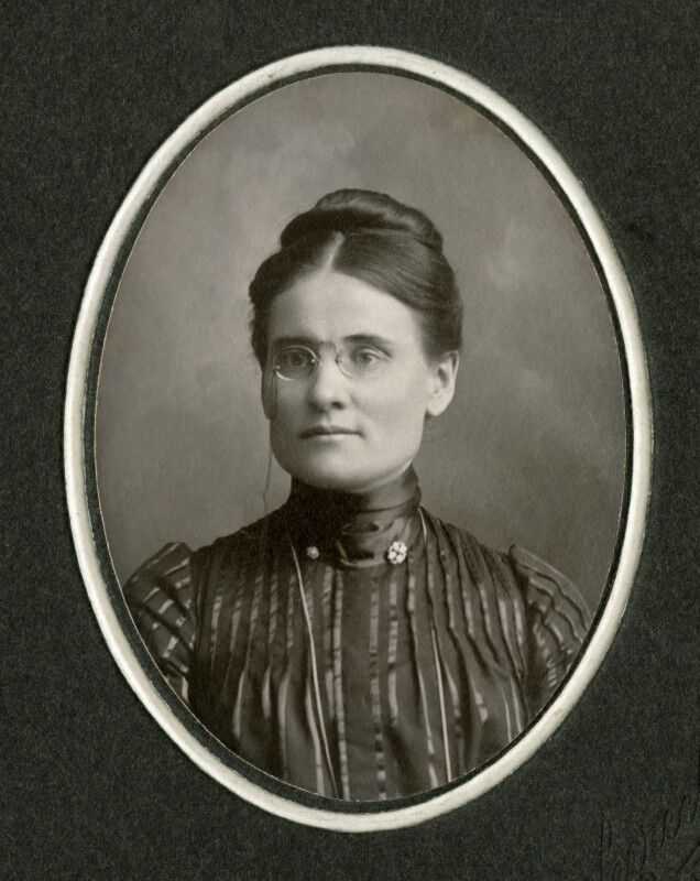 Antique Oval Photo of Woman
