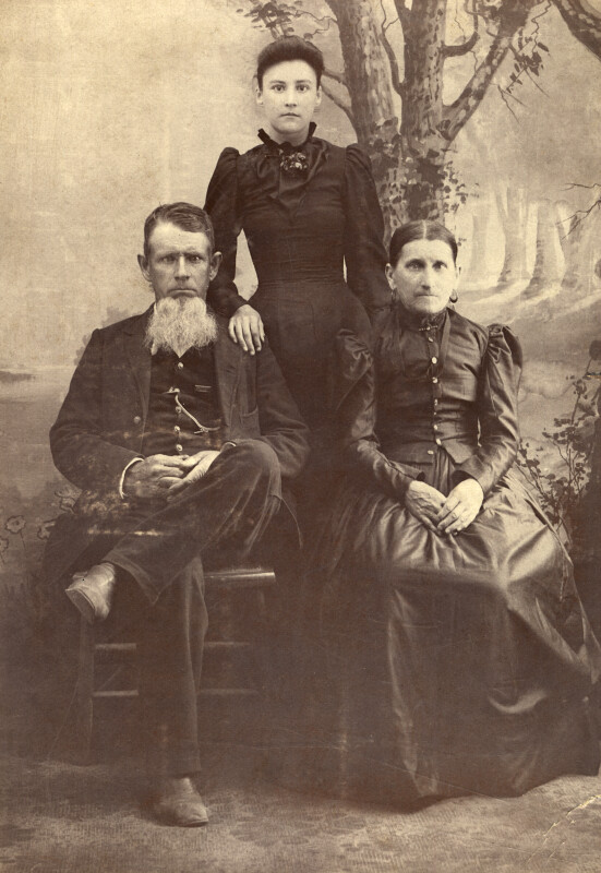 Antique Photo of Three People