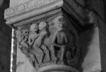 Anzy-le-Duc, Priory Church, Capital with Siamese Twins and Sciopod