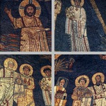 Apse mosaics with Christ and saints photographs