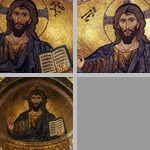 Apse mosaics with Pantocrator (Christ as ruler of all) photographs