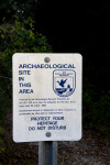 Archaeological Warning Sign