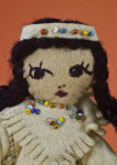 Texas, Handcrafted Native American Indian Girl  (Close Up)