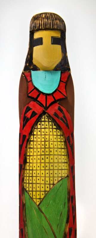 Arizona Hopi Corn  Maiden Wood Sculpture (Single View)