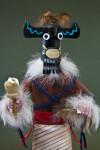 Arizona Hopi Kachina Figure with Wood Mask (Close Up)