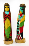 Arizona Hopi Kachina Figures Carved in Wood and Painted in Vivid Colors (Profile View)