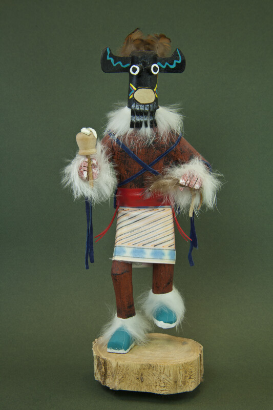 Arizona Kachina From The Hopi Indians With Wood Mask And