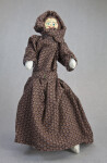 Arkansas Female Doll Made from Corncobs and Wearing Pioneer Dress (Full View)