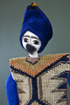 Armenia Male Doll with Hand Embroidered Face and Mustache (Close Up)