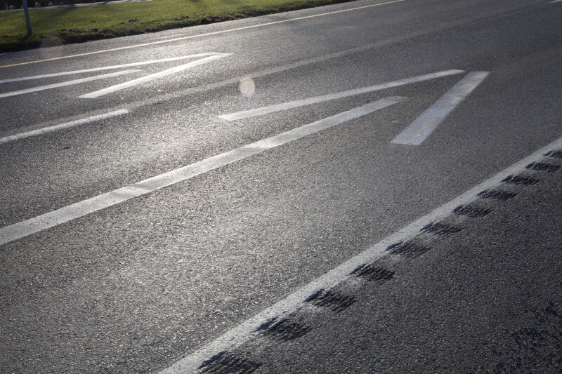 Arrows Painted on a Road Surface
