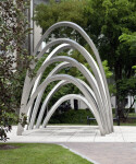 Artistic Arches on the Grounds of the Miami-Dade County Courthouse