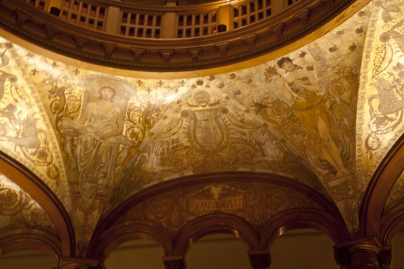 Artwork above the Jean Ribault Door of the Rotunda