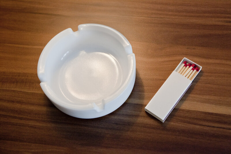 Ashtray and Matches