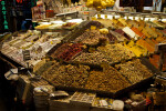 Assorted Snacks and Spices at the Spice Bazaar in Istanbul, Turkey