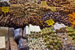 Assortment of Natural Snack Foods at the Spice Bazaar in Istanbul, Turkey