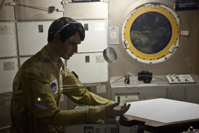 Astronaut at Table