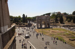 At the Top of the Colosseum to the Arch of Constantine