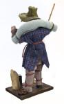 Australian Swagman Handmade with Bedroll (Back View)