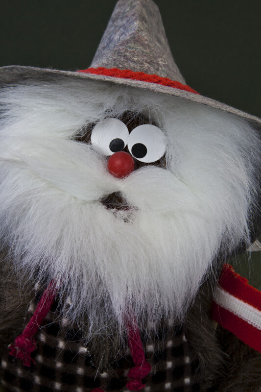 Austria Hand Made Doll Created with Pinecones, Fur and Felt (Close Up)