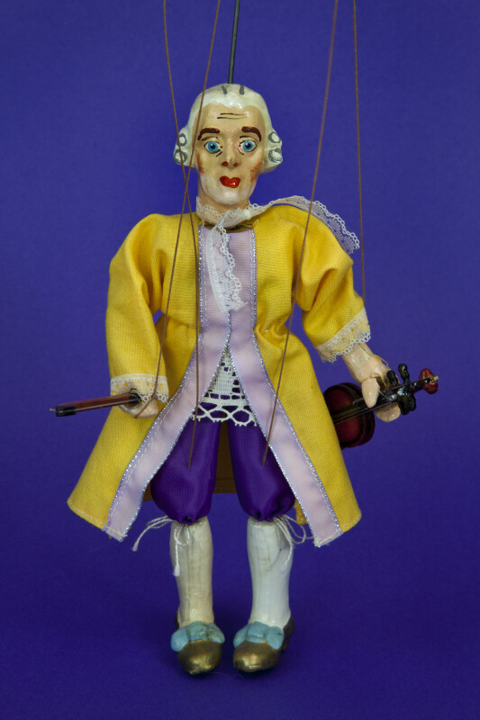 Austria Mozart Marionette with Violin (Full View)