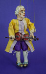 Austria Mozart Doll with Violin as Marionette (Three Quarter View)