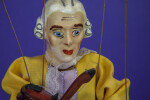 Austrian Doll - Handcrafted Marionette of Mozart (Close Up)