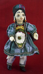 Azerbaijan Female Doll with Wooden Head, Hands and Feet (Full View)