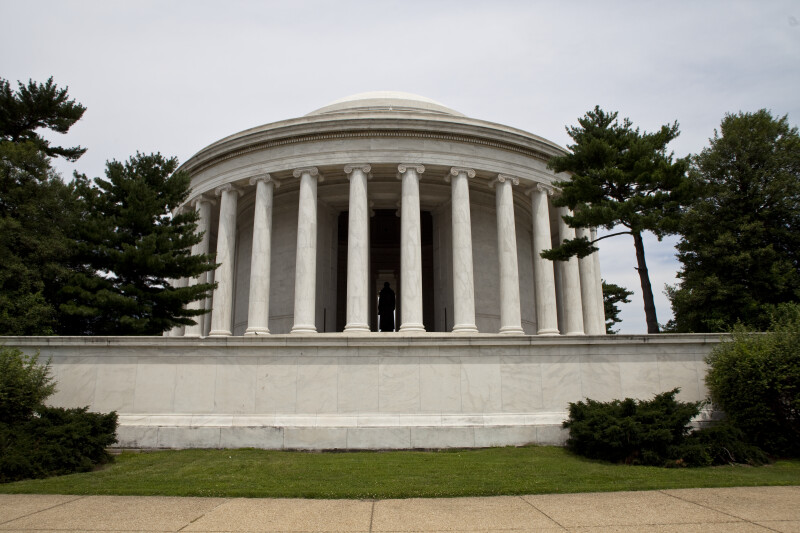 Back of Jefferson Memorial