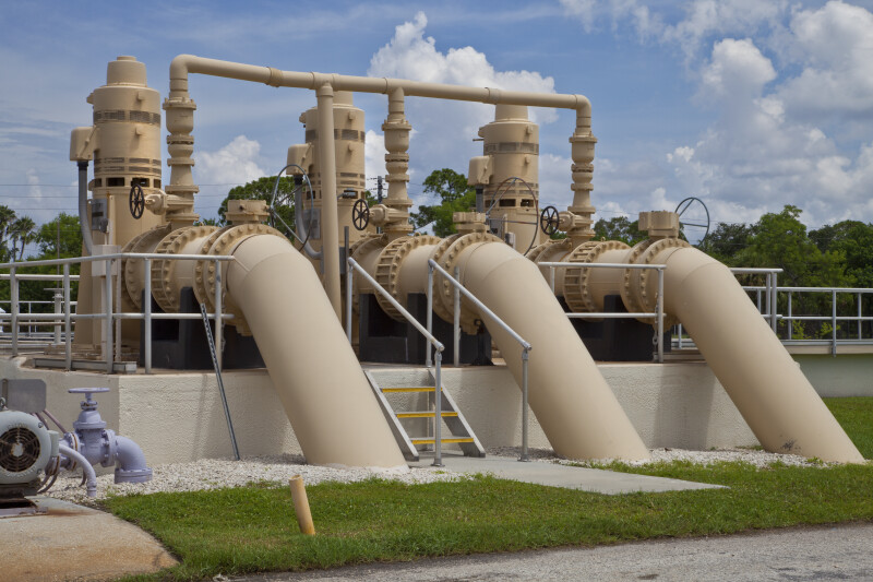 Backwash Pumps at a Water Treatment Plant