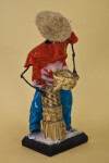 Bahamas Handcrafted Male Doll Made with Wire and Wearing a Straw Hat (Three Quarter View)