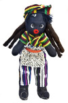 Bahamas Handcrafted Male Made from Cloth, Buttons, Felt, and Yarn (Full View)