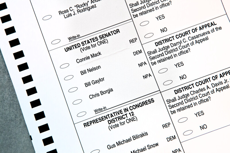 Ballot Choices for Florida Senator