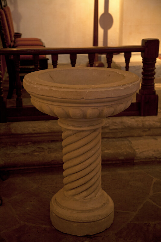 Baptismal Font in the Mission Concepción Sanctuary