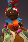 Barbados Woman with Head Made from a Coconut (Close Up)