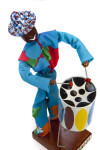 Barbados Steel Drum Player Made from Rope (Top View of Figure)