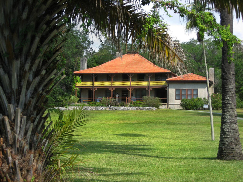 Barnacle House and Palms