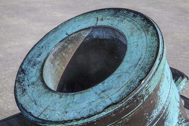 Barrel of a Bronze, Oxidized Mortar Located at Castillo de San Marcos