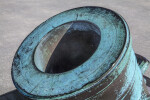 Barrel of a Bronze, Oxidized Mortar Located at Castillo de San Marcos