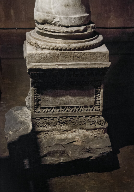 Base of a Stone Column at the Basilica Cistern