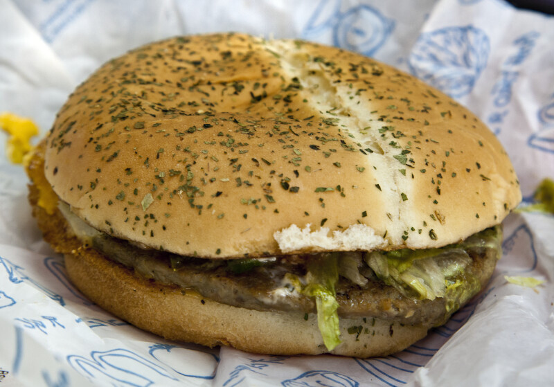 Basic Burger from a Fast Food Restaurant in Istanbul, Turkey