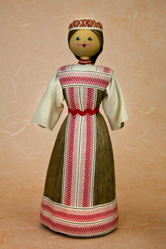 Belarus Female Doll Made from Fiber and Wood (Full View)