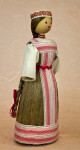 Belarus Handcrafted Lady with Natural Fibers for Skirt and Hair (Three-Quarter View)