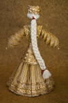 Belarus Wheat Doll with Long Fiber Braid (Back View)