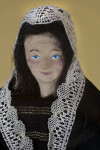 Belgium Hand Painted Ceramic Face of Belgium Lace Maker Doll (Facial Close Up View)