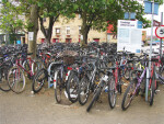 Bicycles at the Cambridge Station