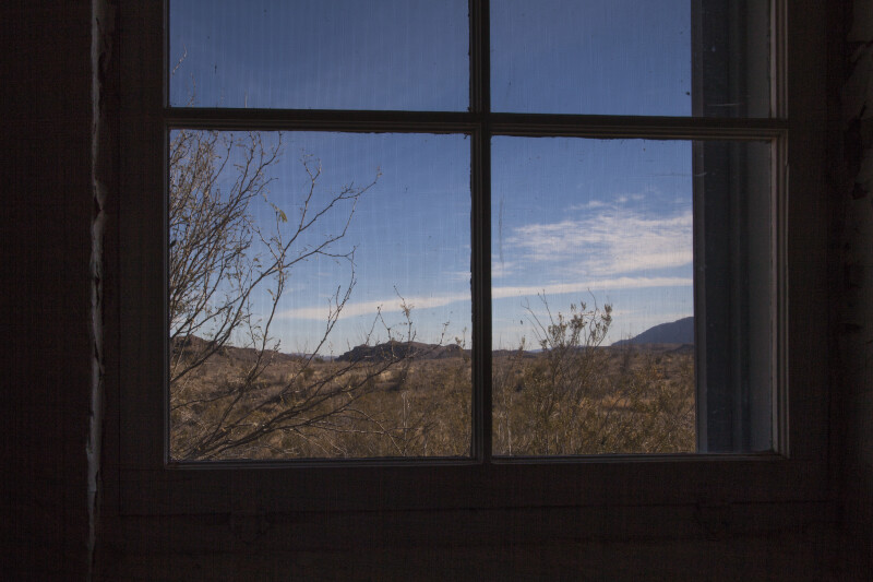 Big Bend Landscape Through Window