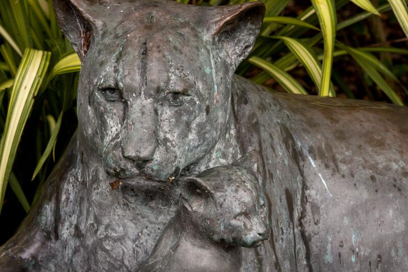 Big Cat and Cub Statue