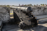Black Cannon on a Cannon Carriage on the Terreplein of Castillo de San Marcos